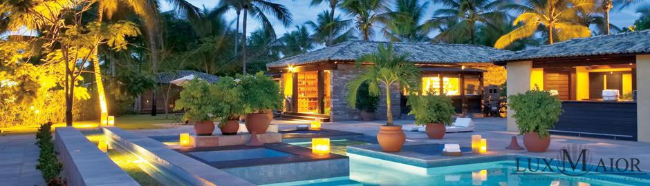 iluminacao de jardim em ledIluminação LED Decorativa Piscina e