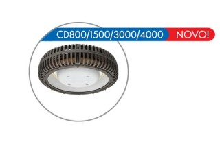 Luminária LED CD800, CD1500, CD3000, CD4000 Industrial Pública