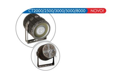 Luminária LED CT2000/2500/3000/5000/8000 Industrial, Pública, Estacionamentos